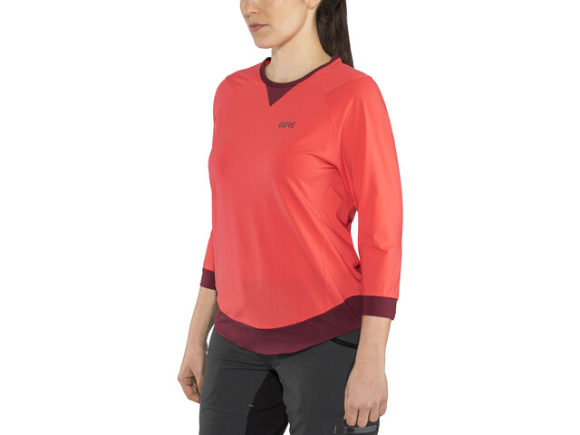 GORE WEAR C5 All Mountain 3/4 Jersey Dame hibiscus pink/chestnut red